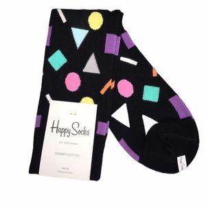 Happy Socks Geometric Shapes Crew Socks One Size